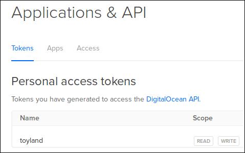 DigitalOcean API